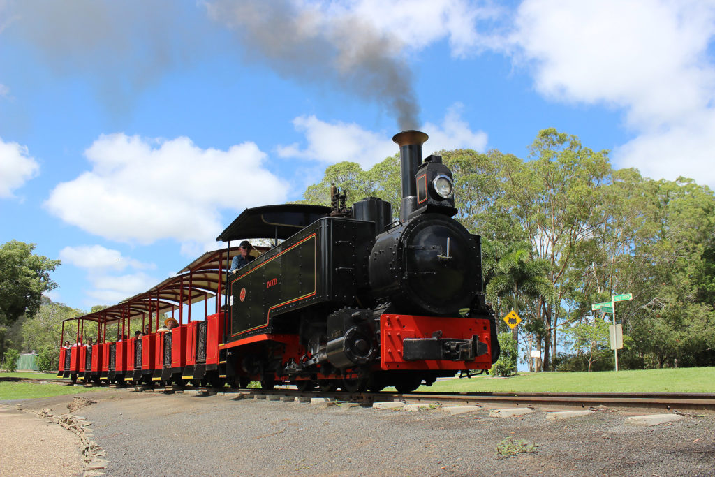 The steam locomotive ride continues to be a popular family outing at the Bundaberg Botanic Gardens.