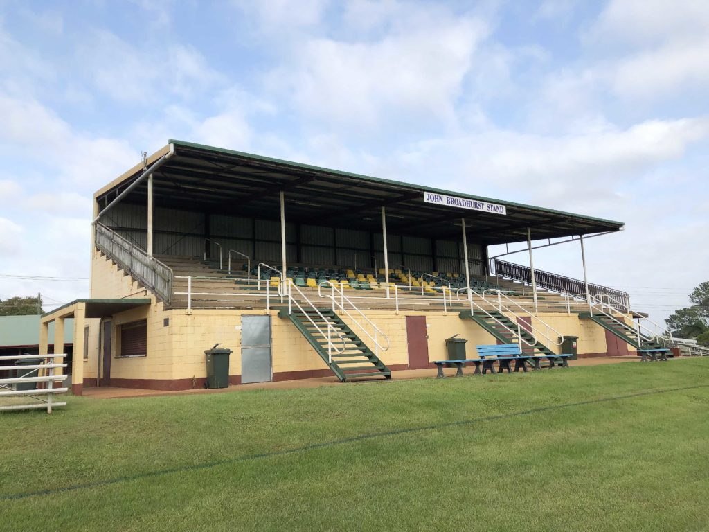 The grandstand at Childers Showgrounds