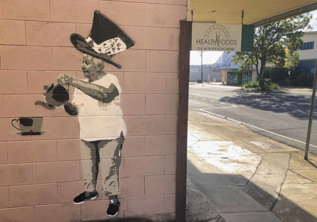 Mad Hatter mural