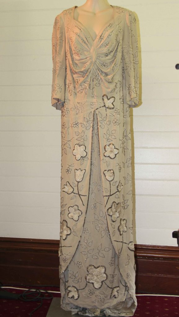 This dress, worn by Gladys Moncrieff, has been donated to the Our Glad Association.
