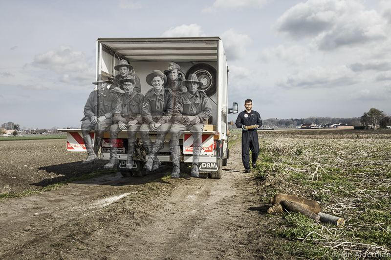One of the photos in the Recovering the Past exhibition by Ian Alderman