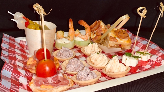 A platter served pre-show or during intervals at the Moncrieff Entertainment Centre