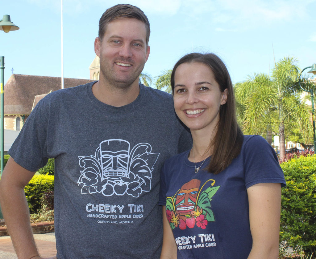 Ohana Cider House and Winery owners Josh Phillips and Zoe Young - Taste Bundaberg Festival