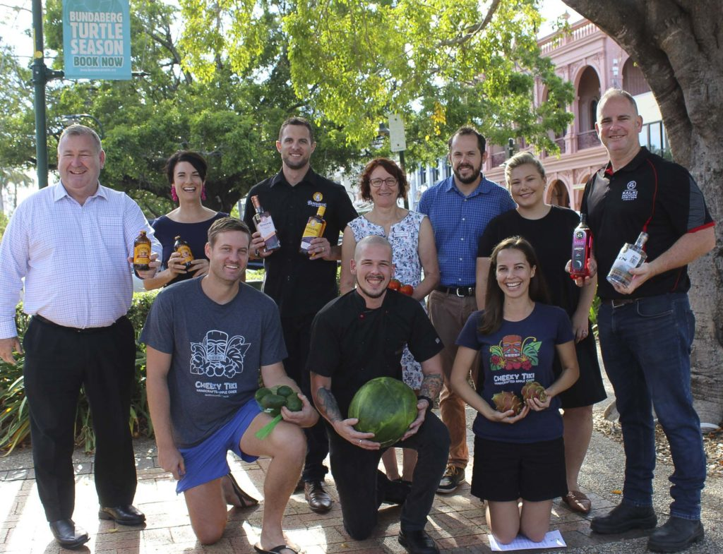 Mayor Jack Dempsey joined Bundaberg Tourism general manager Katherine Reid and representatives from this year's signature events to launch Taste Bundaberg Festival.