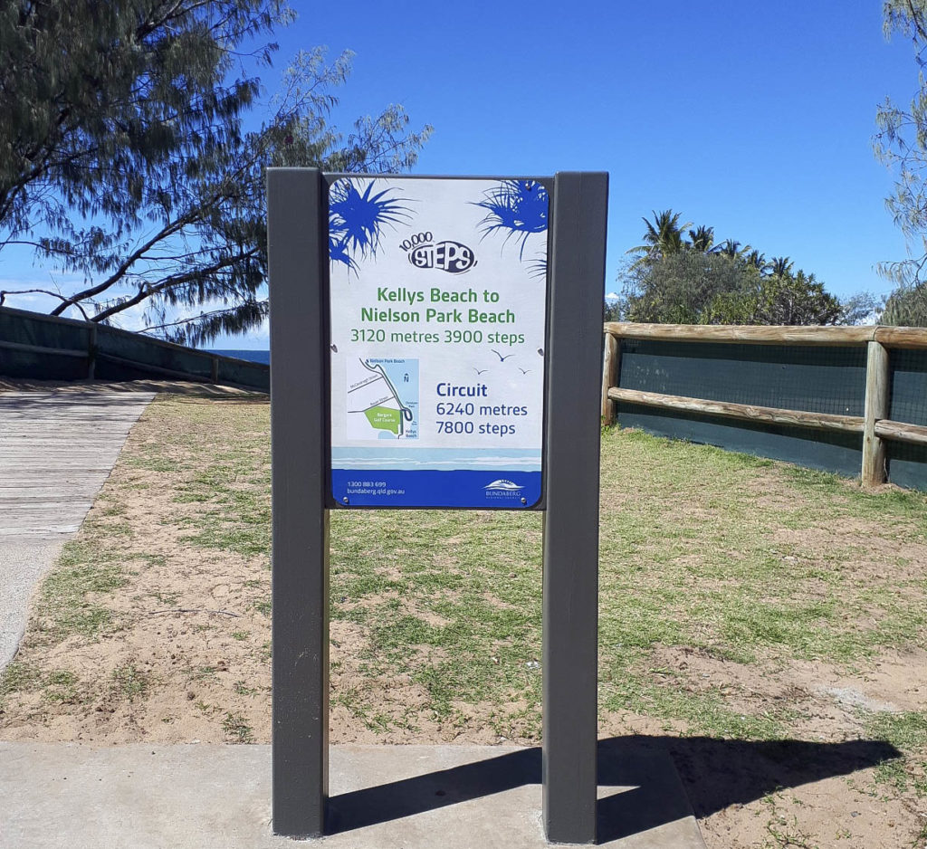 New 10,000 steps signage has been installed at Bargara