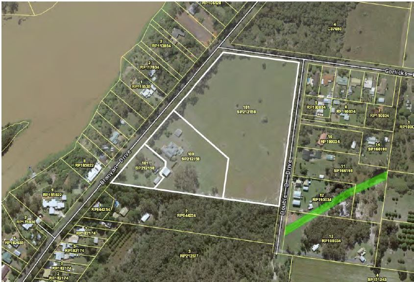 The site on Branyan Drive proposed to be subdivided into 48 lots