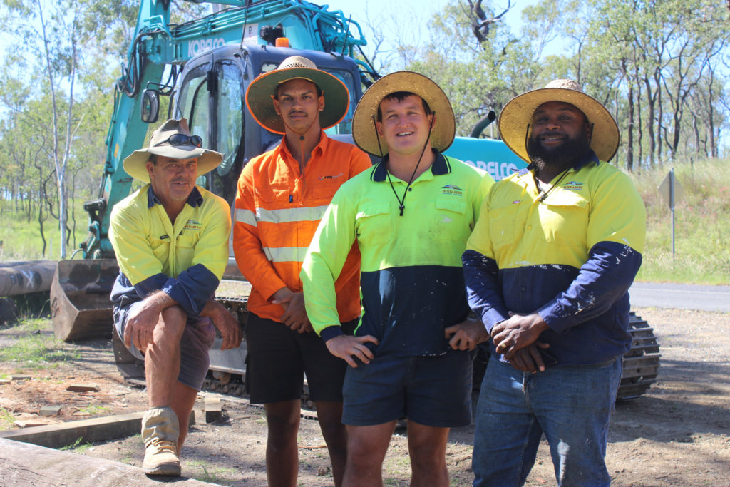 Council's bridge crew (l-r) Hunter Cole, Tyrell Howard, Reece Maughan and Patrick Tanna.