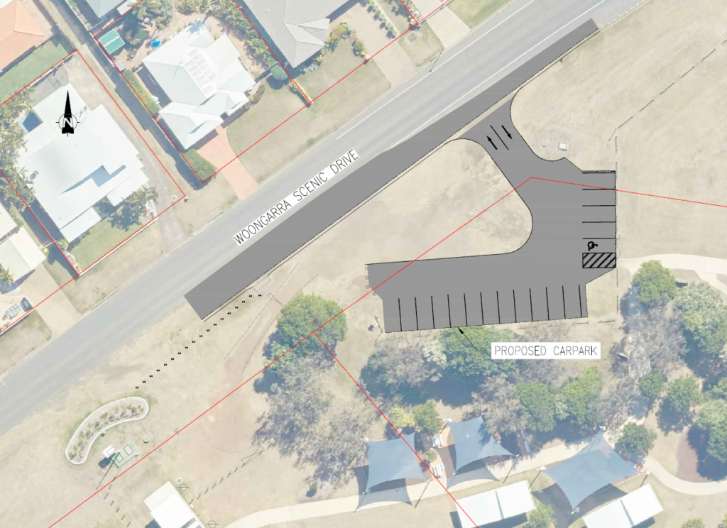 A new carpark will be constructed to provide better access to Mary Kinross Park.