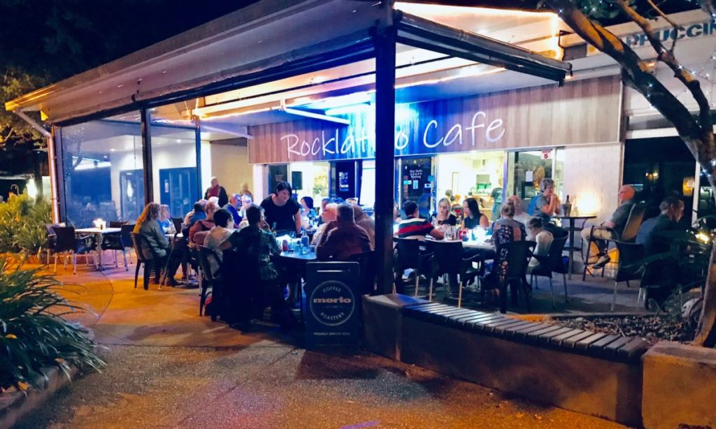 Rocklatino Cafe in Bargara was fully booked for the first night of opening.