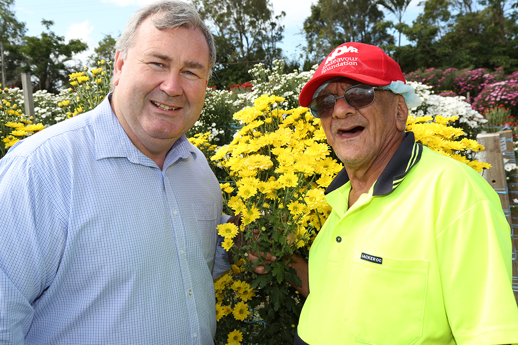 Mayor Jack Dempsey with Peter Rouse.