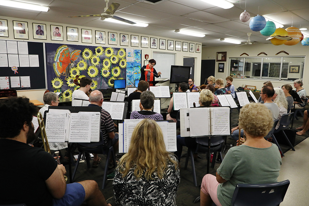 Bundaberg Symphony Orchestra rehearsing for their 30th anniversary concert.