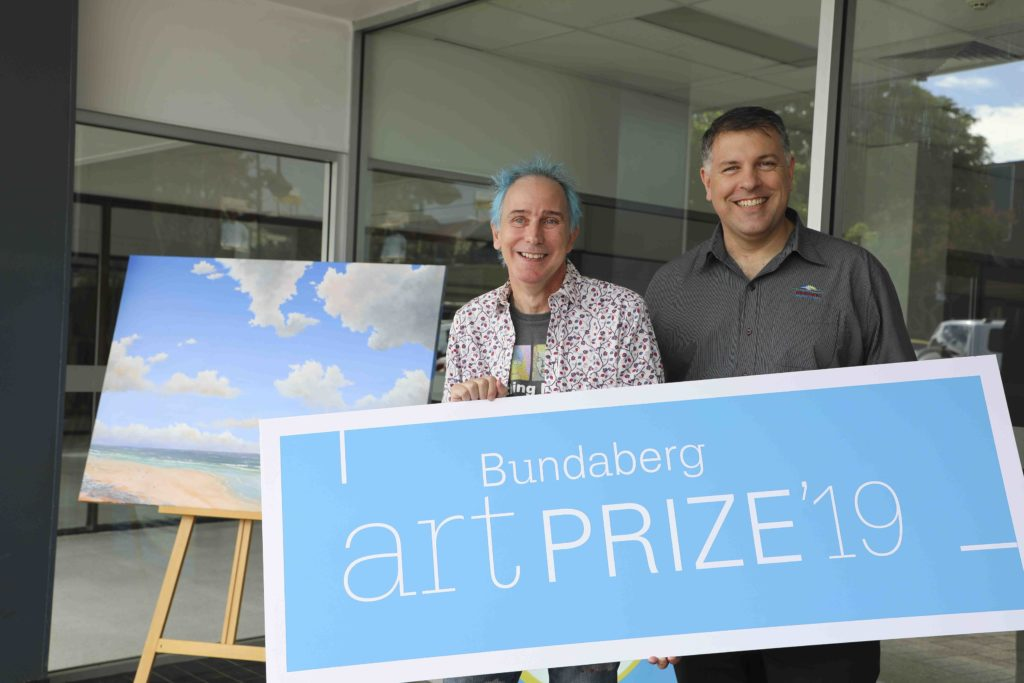Bundaberg Arts Festival president Phil Oakley and Bundaberg Regional Council Manager Arts and Culture Rod Ainsworth