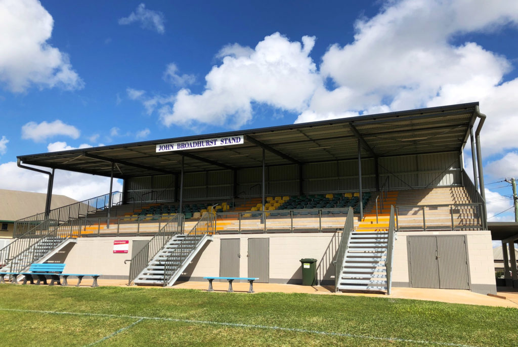 The grandstand at the showgrounds.