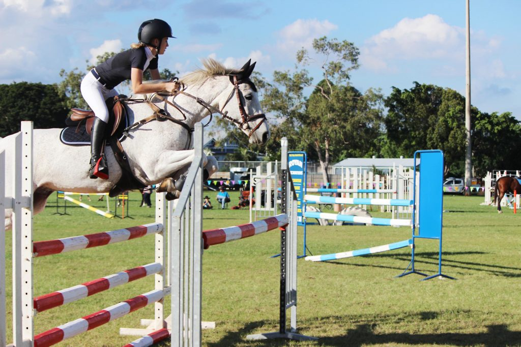 A strong program of ring events has always been a feature of the Childers Show. Here Emily Myers on TCG Centadel competes at a previous Childers Show.