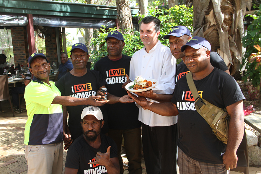 PNG farmers with Dion Taylor at HSG At The Gardens
