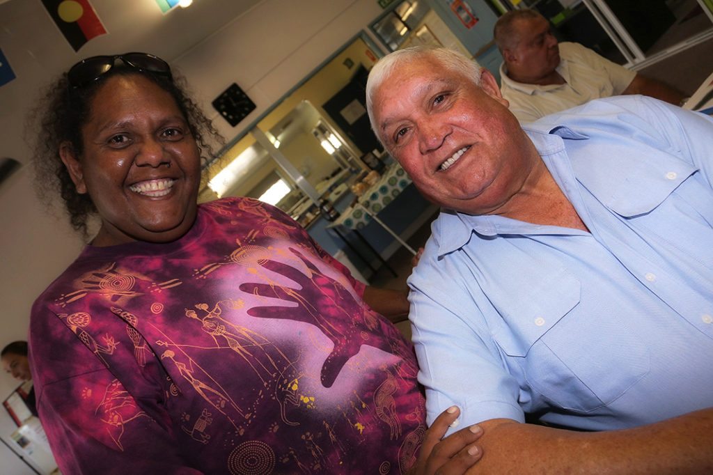 RECONCILIATION WEEK: Nikki Tiger with Uncle Ralph Chambers. Photo: Solana Photography.