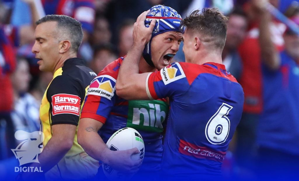 Kaufusi is backing Newcastle in the Dragons v Knights round 10 clash following a strong performance by Kalyn Ponga and Mitchell Pearce in Magic Round. Source: Newcastle Knights Facebook