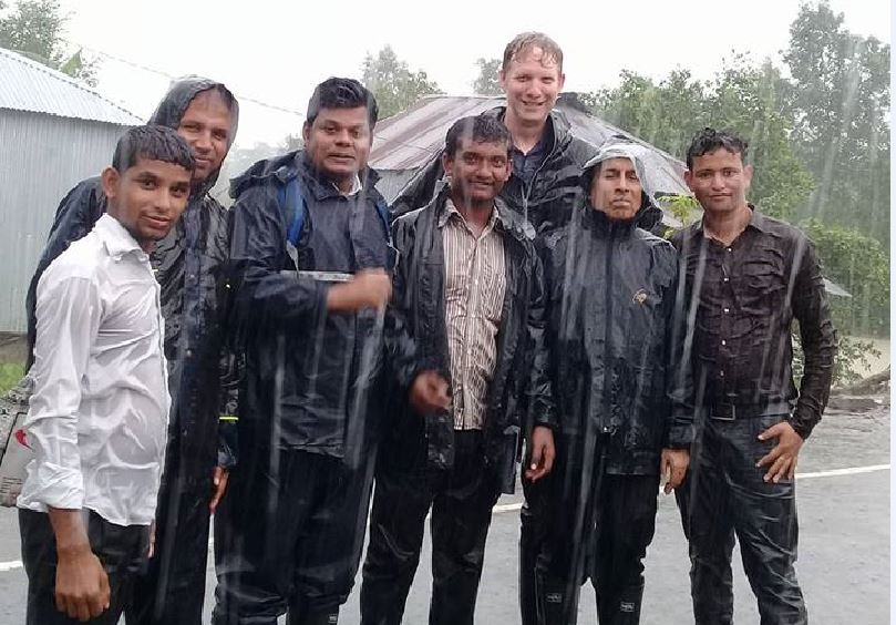CQU Associate Professor Olav Muurlink will be a speaker at TEDx Bundaberg, he is picture here third from the right, in Bangladeshi where heads non-profit organisation.