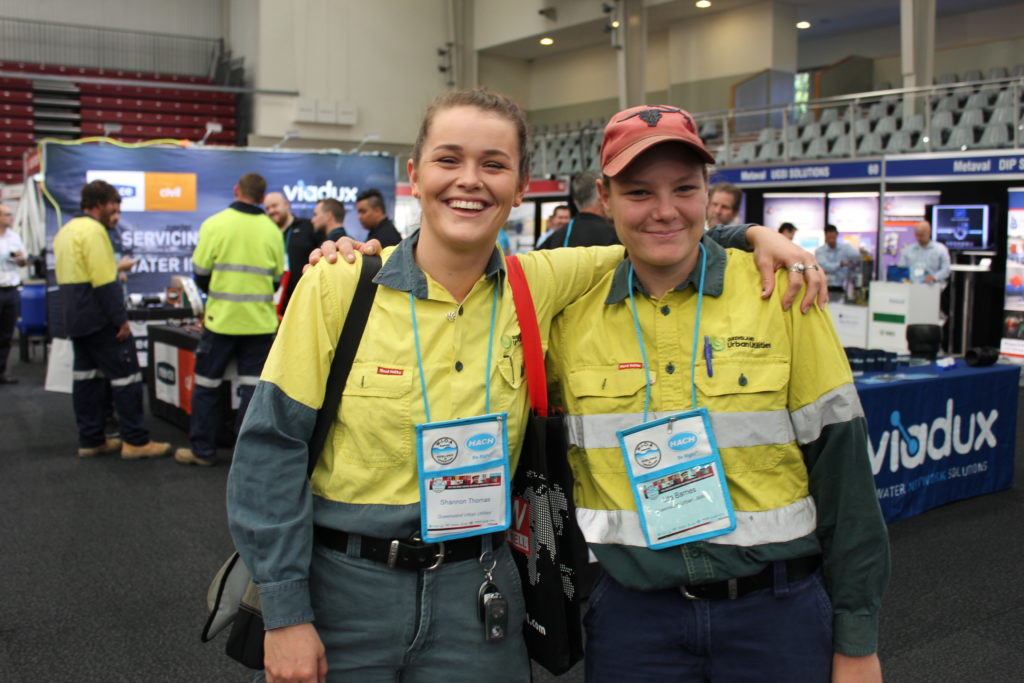 Shannon and Lita from Queensland Urban Utilities in Brisbane at the 2018 Queensland Water Industry Operations Conference
