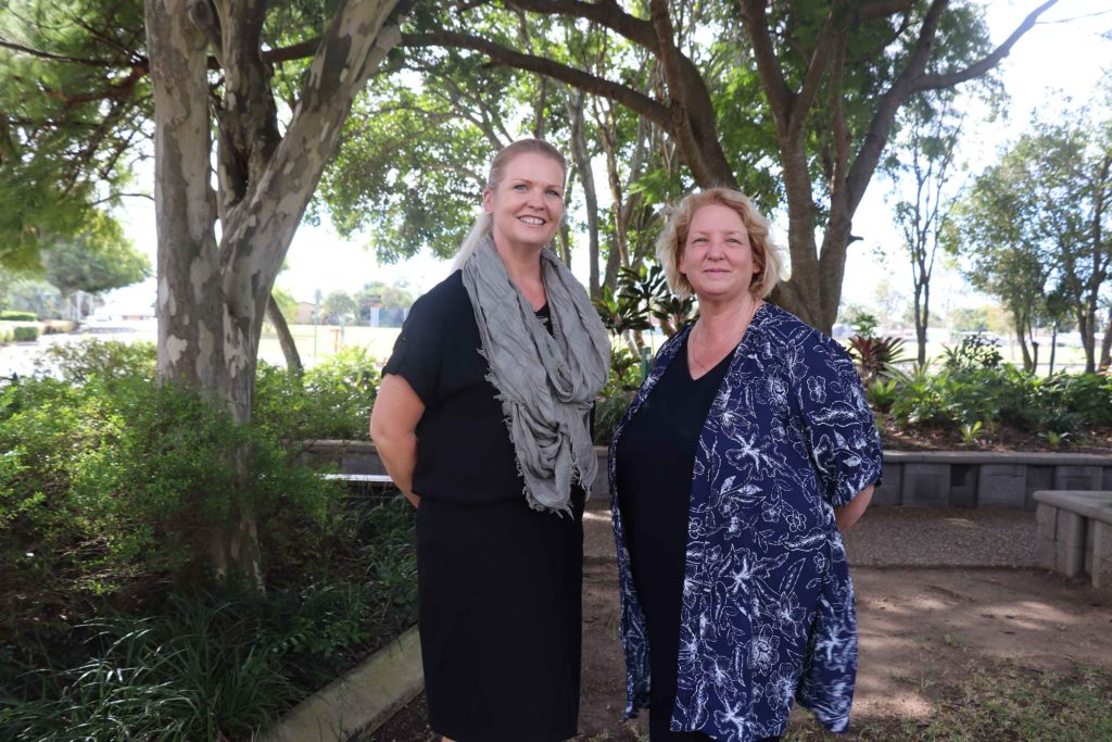 Teachers Kellie Hansen and Cathie Robinson from St. Luke's Anglican School.