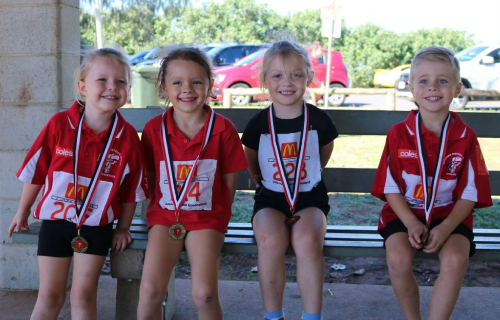Bargara Little Athletics under 6 participants