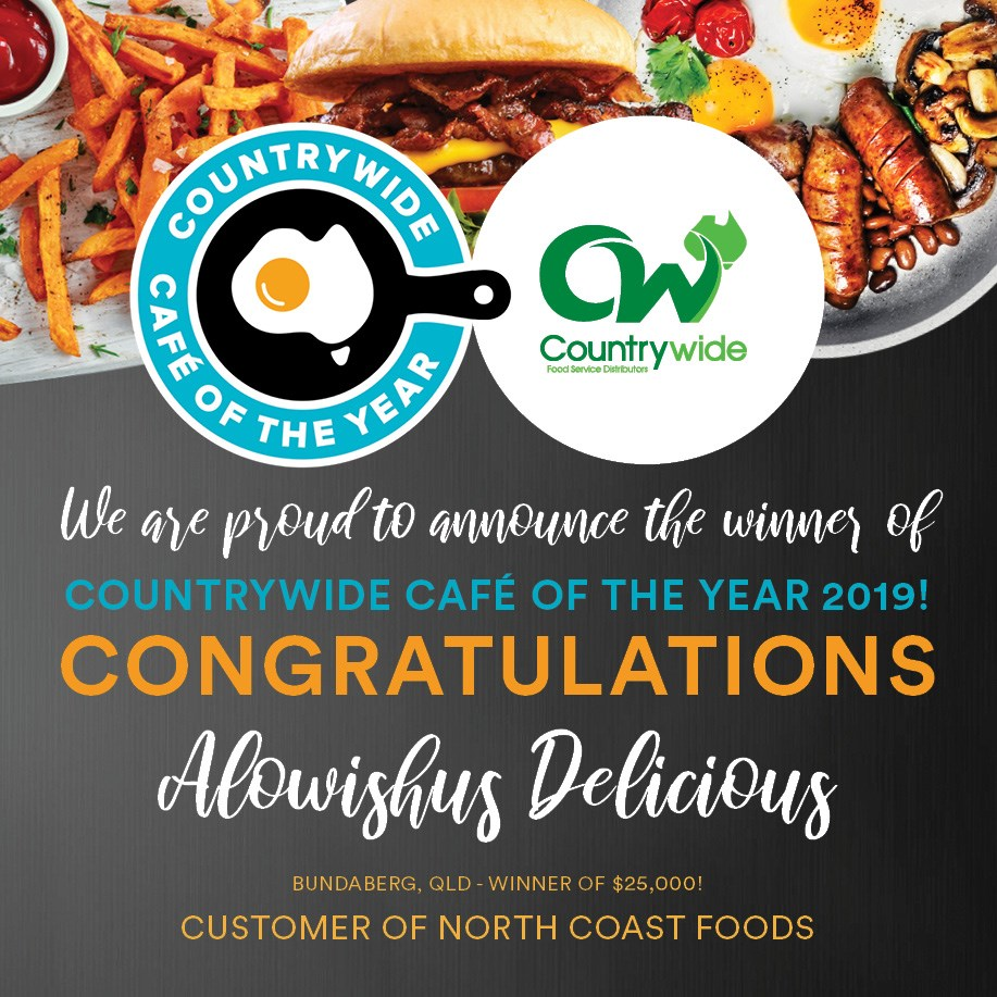 Sweet taste of success for Alowishus Delicious, announced as Countrywide Cafe of the Year on social media