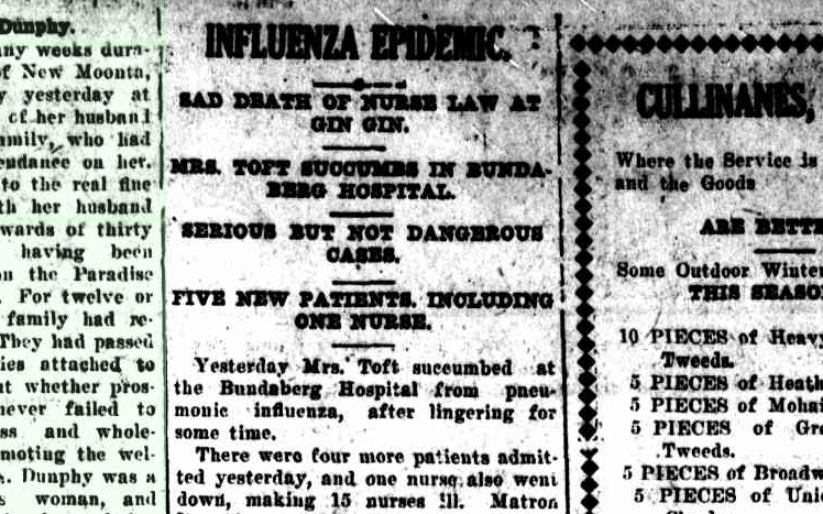 Bundaberg flu epidemic