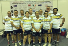 Touch Football World Cup referees in Malaysia including Dave Field from Coral Cove