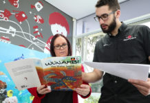 Bundaberg library manager Peta Brown and Robert McLellan are excited for the launch of a series of books featuring the Taribelang language.