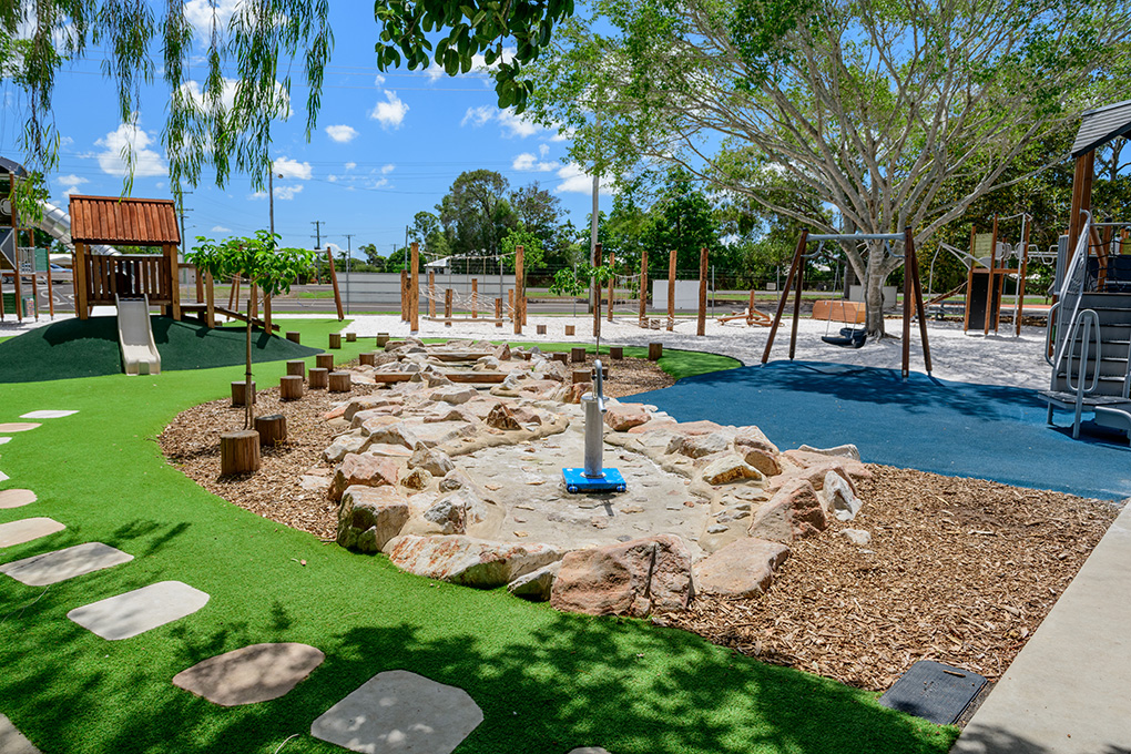 The nature based playground in the Bundaberg Botanic Gardens has was a state Parks and Leisure Australia Award
