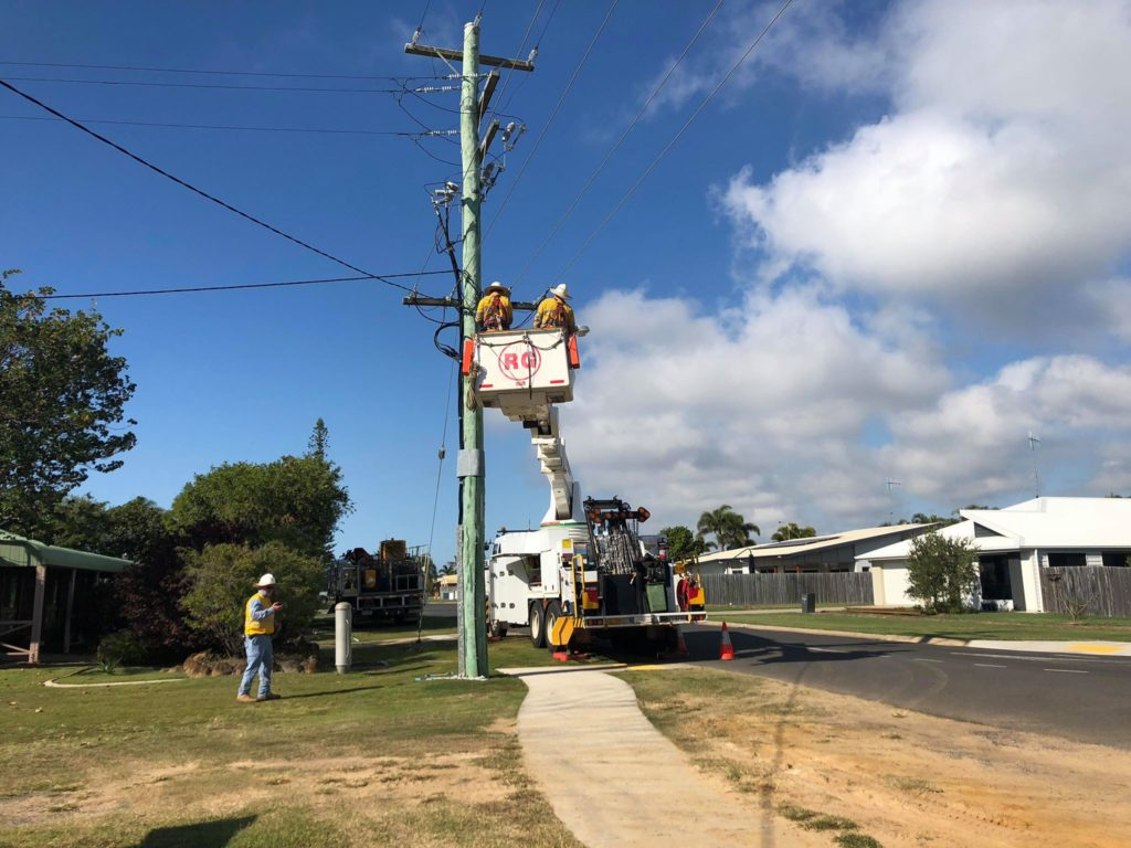 Council and Ergon are conducting works in Bargara today.
