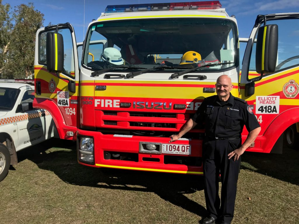 Bundaberg nurse Drew Weiss firefighter