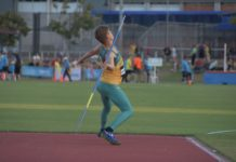 Hendre Kirchner took out second place in U18 javelin at Oceania Athletics Championship