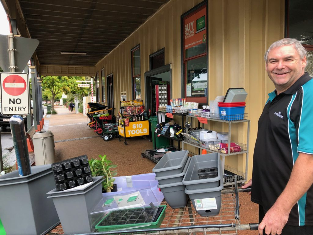 Isis Hardware has welcomed Bundaberg Regional Council discounts on the annual fee for goods for sale on footpaths. Pictured: Greg Norman