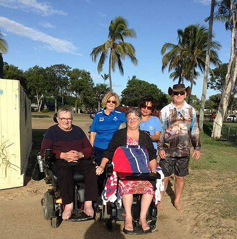 The Moore Park Beach community has rallied together to support Janine and her beach wish.