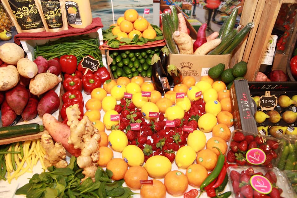 Produce galore: Bundaberg Region fruit and veg was on show at last night's event at Parliament House.