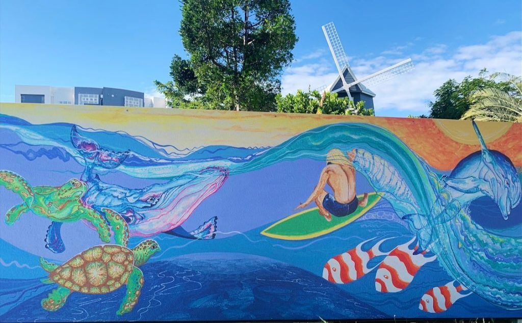 The new mural at The Windmill Cafe.