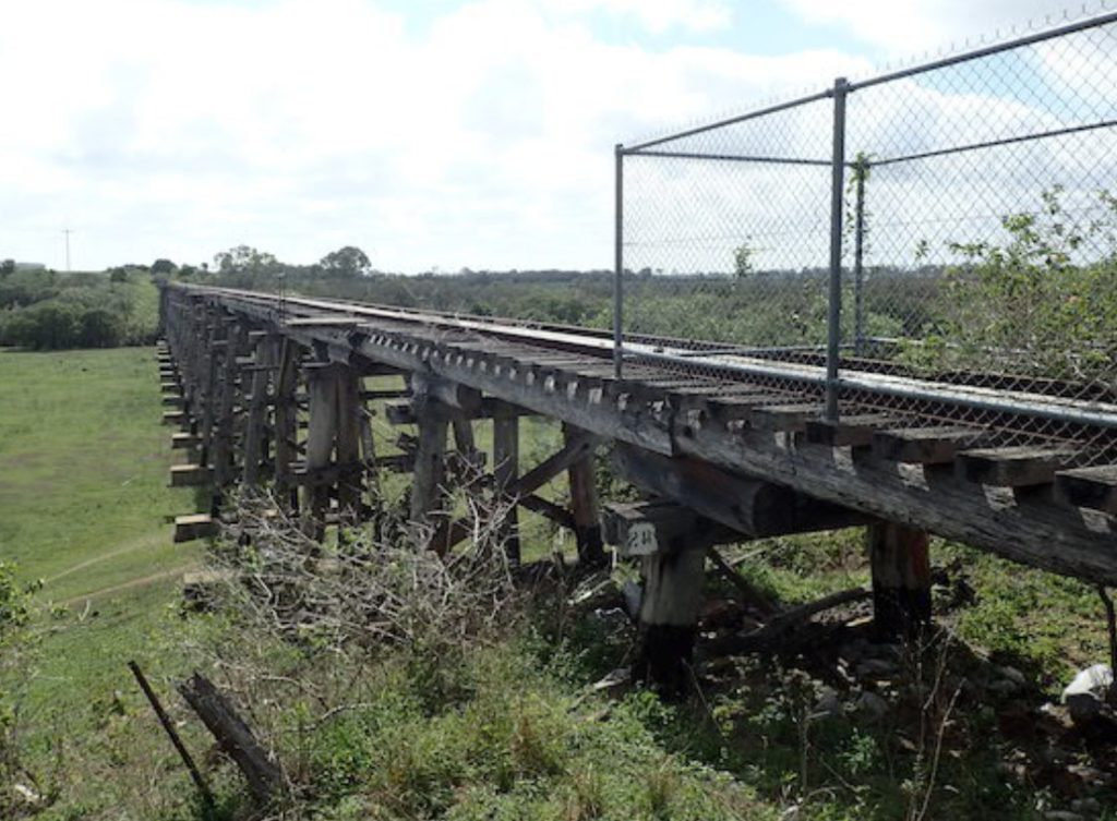 Splitters Creek Bridge on the route of the proposed Gin Gin rail trail.