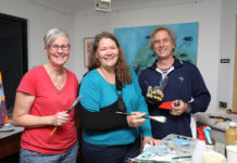 Local artists Adrienne Williams, Julie Hylands and Paul Perry are excited about the upcoming Bundaberg Art Prize.