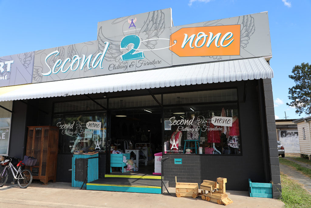 Preparing Parents for Work: Second 2 None store, operated by the Angels Community Group.
