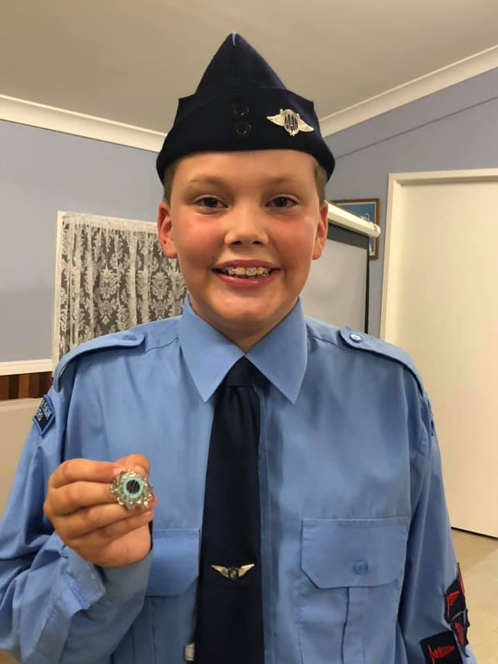 Bundaberg's 11-year-old Ari Maatta has his sights set on flying solo on his 15th birthday, and he is well on his way after winning Australian Air League, Queensland Junior Cadet of the Year.