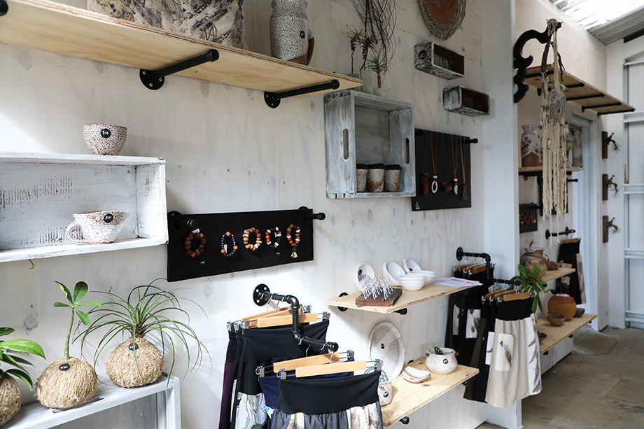 The shop is full of  homewares, jewellery and clothing.