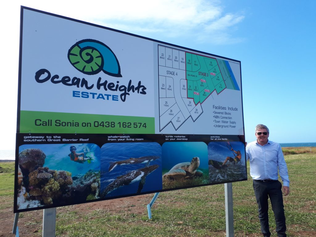 Edals Investment managing director Dale Hancock at Ocean Heights Estate residential development