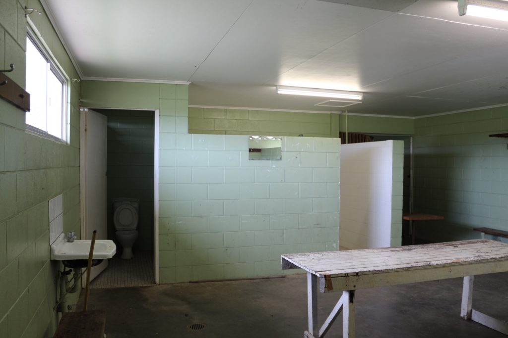 BEFORE: The change rooms had not been updated in decades.