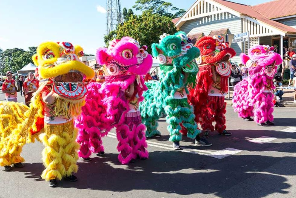 Dragon and lion dancing will be on show at the Childers Festival.