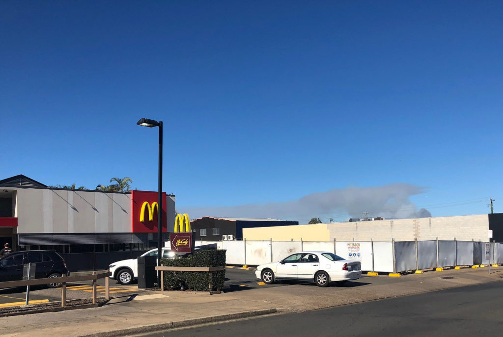 The car park development is well underway at the Bundaberg City store.