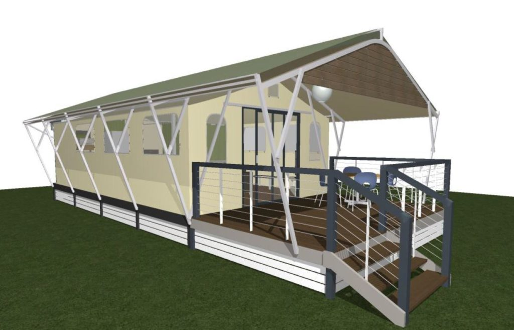 ARTIST IMPRESSION: The application proposes to include nine glamping tents