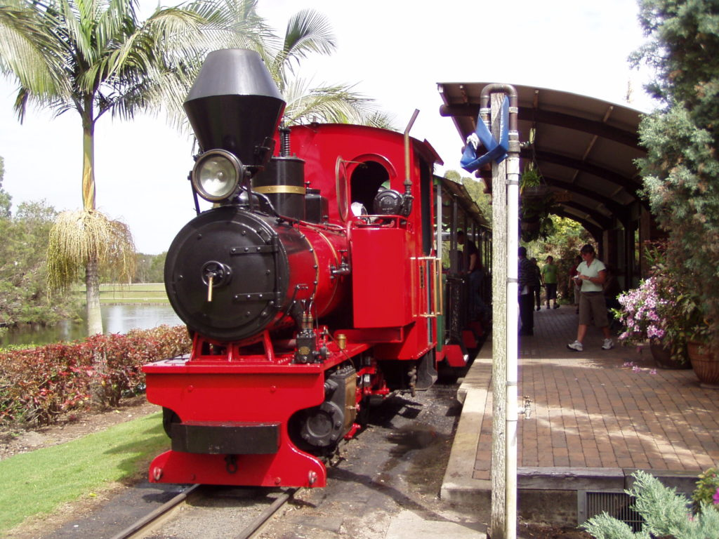 STEAM LOCO: Germany at the Botanic Gardens. The train will undergo extensive refurbishment as part of its 10 year major maintenance work.