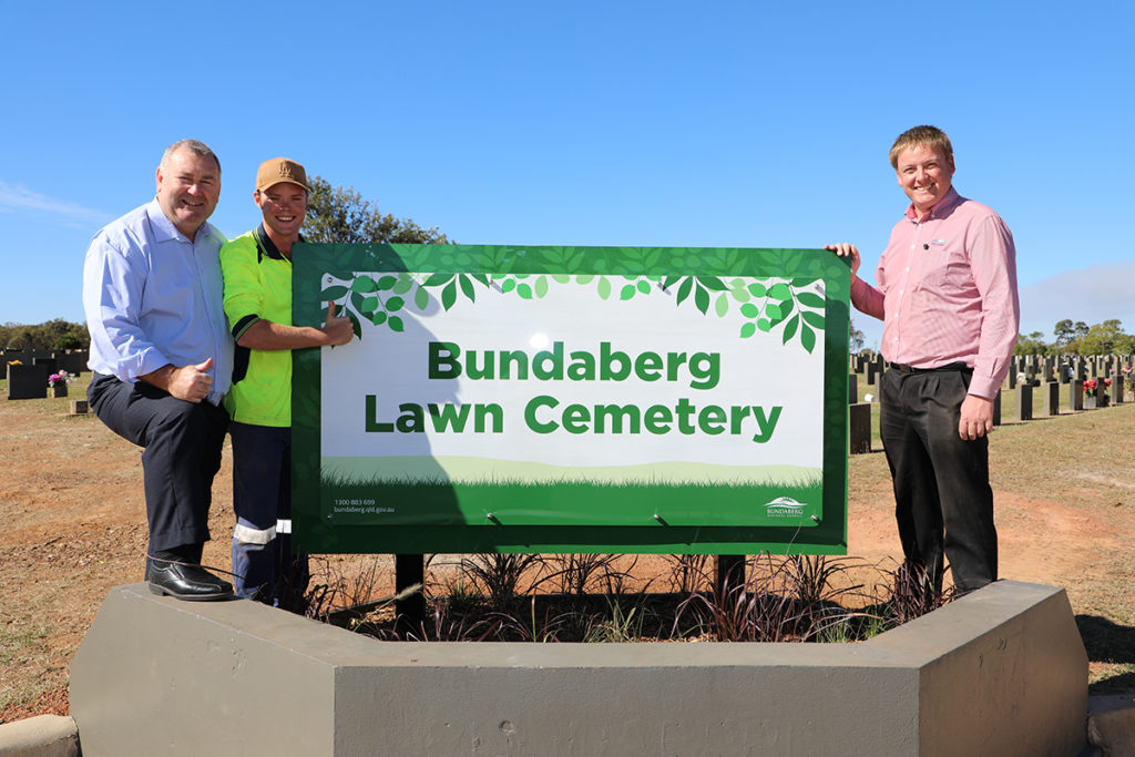 Bundaberg cemetery new signs