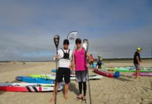 4670 SUP Club's Ocean Addicts Clearwater Classic Race Weekend competitors Chad O'Brian and Paul Stumer